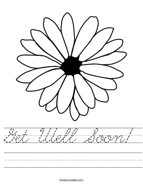 Get Well Soon Worksheet