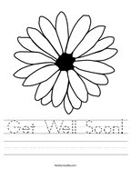 Get Well Soon Handwriting Sheet