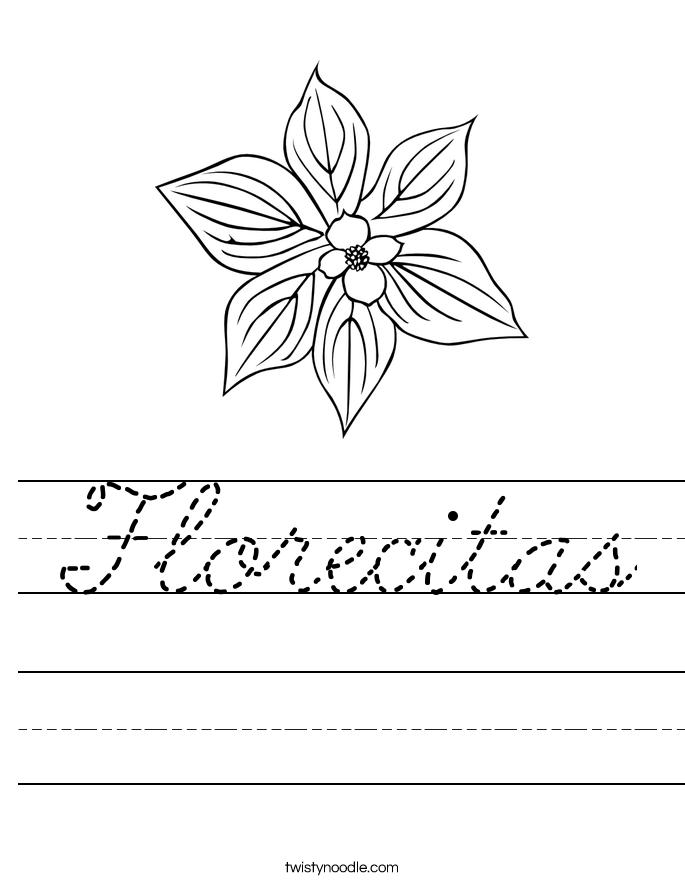 Florecitas Worksheet