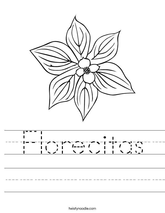 Florecitas Worksheet