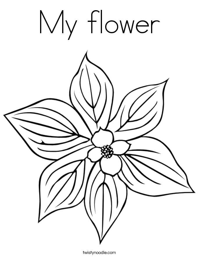 My flower Coloring Page