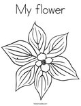 My flowerColoring Page