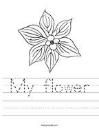 My flower Handwriting Sheet