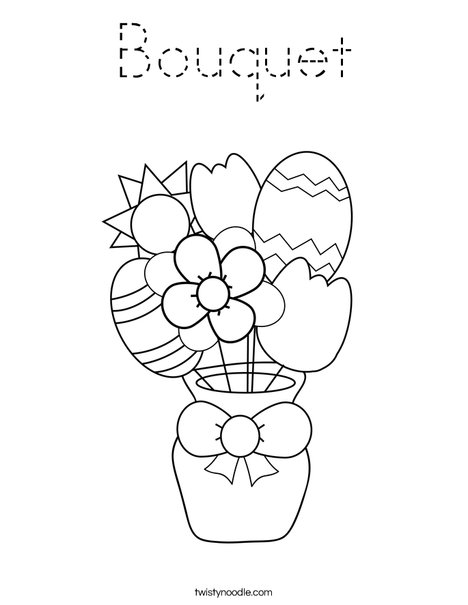 Easter Flowers Coloring Page