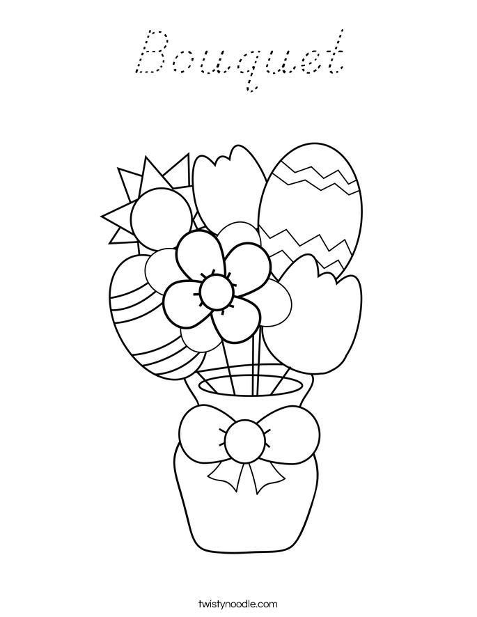 Bouquet Coloring Page