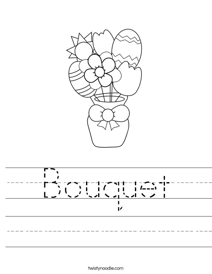Bouquet Worksheet