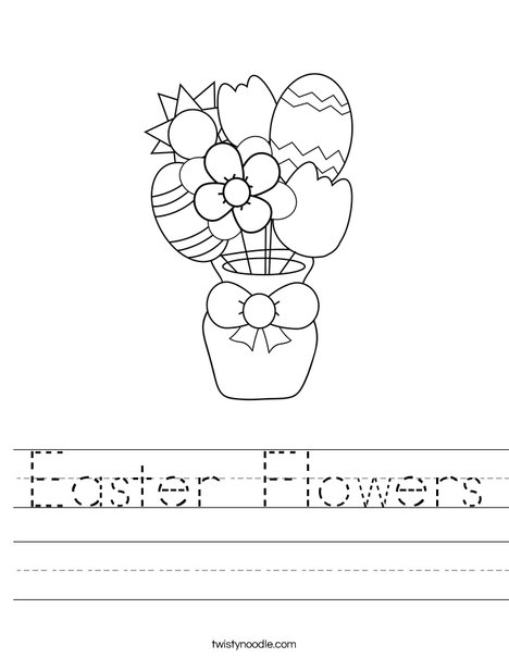 Easter Flowers Worksheet