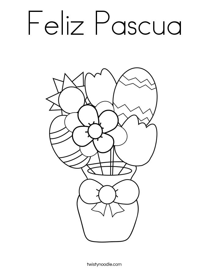 feliz pascua coloring pages | Feliz Pascua Coloring Page - Twisty Noodle