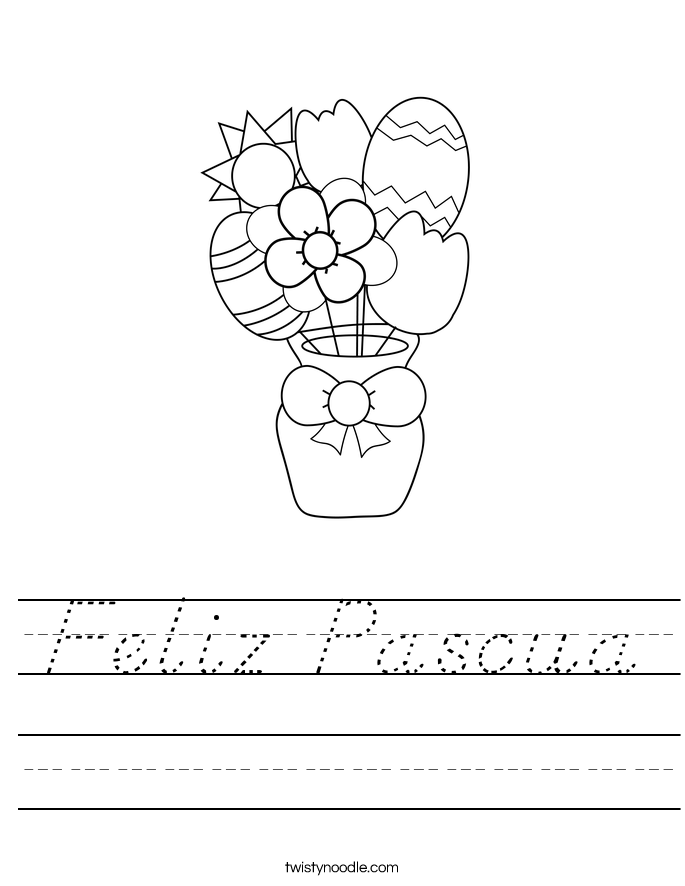 Feliz Pascua Worksheet