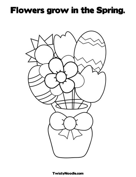 spring coloring pages for kids. Print Your Coloring Page