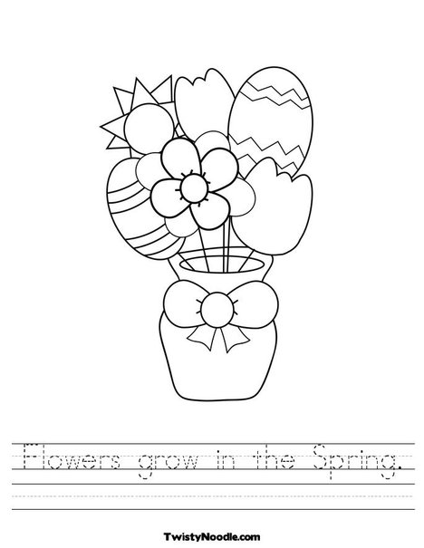 Spring Flower Worksheet