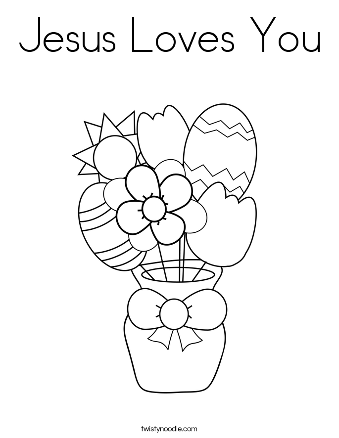 jesus loves you coloring pages - photo#10