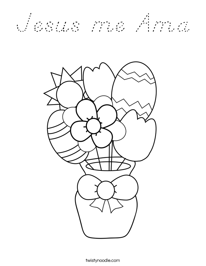 Jesus me Ama Coloring Page