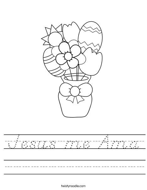Easter Flowers Worksheet