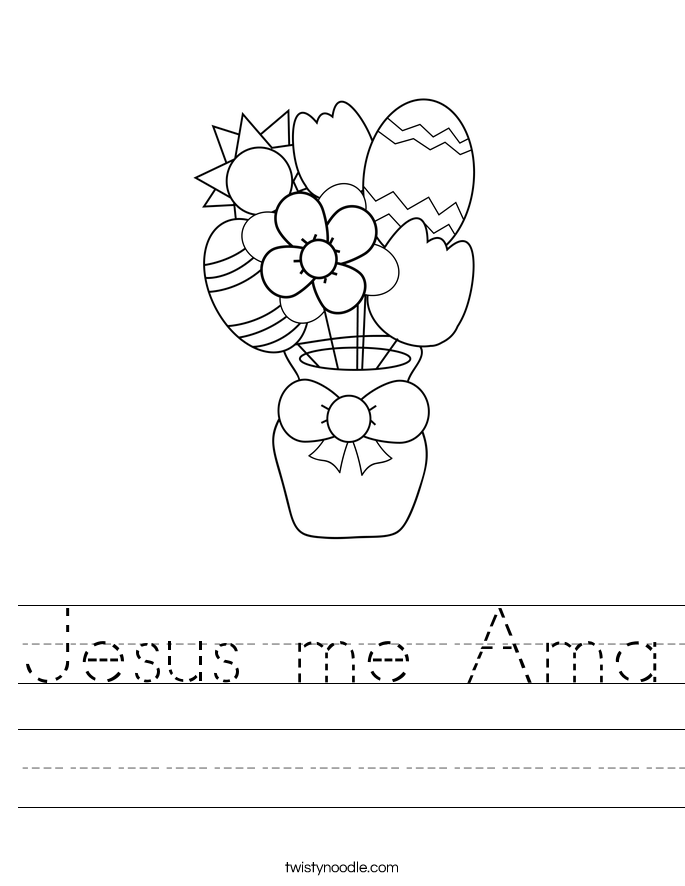 Jesus me Ama Worksheet