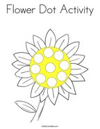 Flower Dot Activity Coloring Page