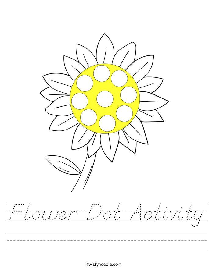 Flower Dot Activity Worksheet
