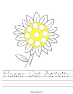 Flower Dot Activity Handwriting Sheet