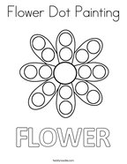 Flower Dot Painting Coloring Page
