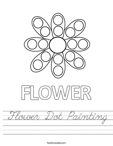 Flower Dot Painting Worksheet