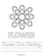 Flower Dot Painting Handwriting Sheet