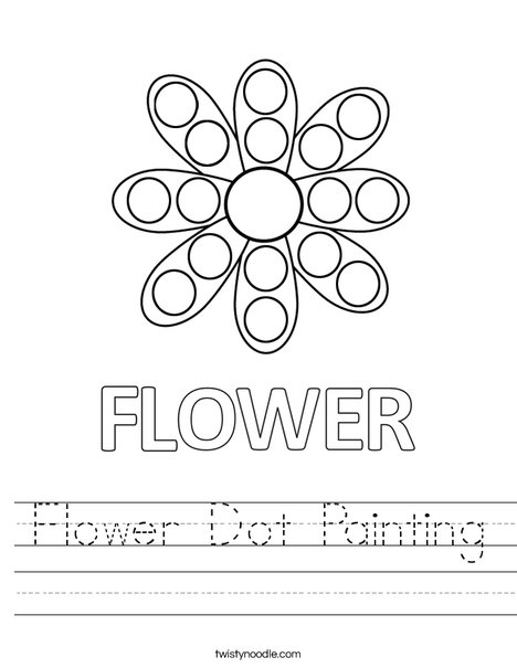 Flower Dot Painting Worksheet