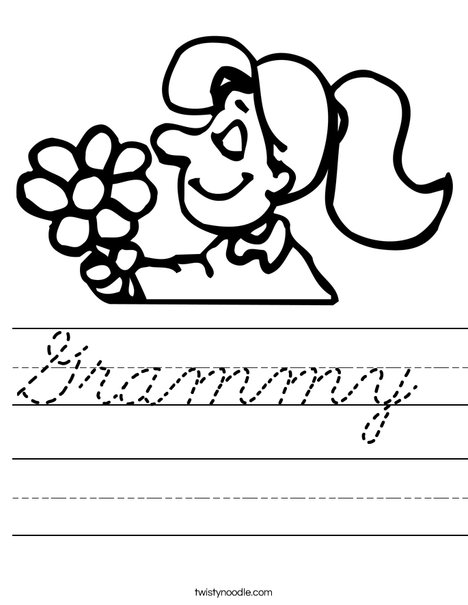 Flower Girl Worksheet