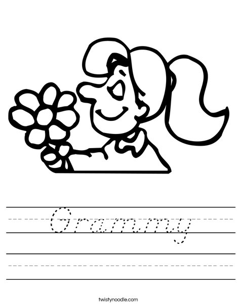 Flower Girl Worksheet