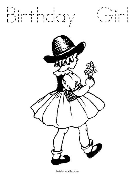 Flower Girl1 Coloring Page