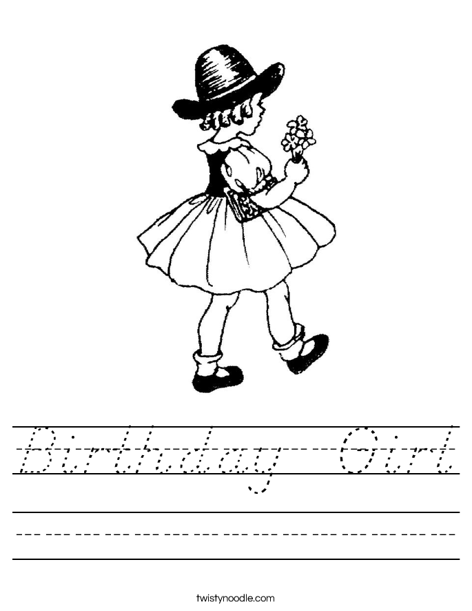 Birthday  Girl Worksheet