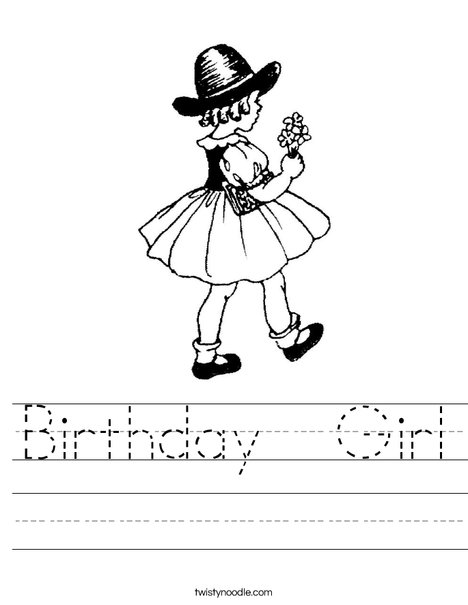 Flower Girl1 Worksheet