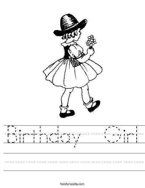 Flower Girl1 Worksheet