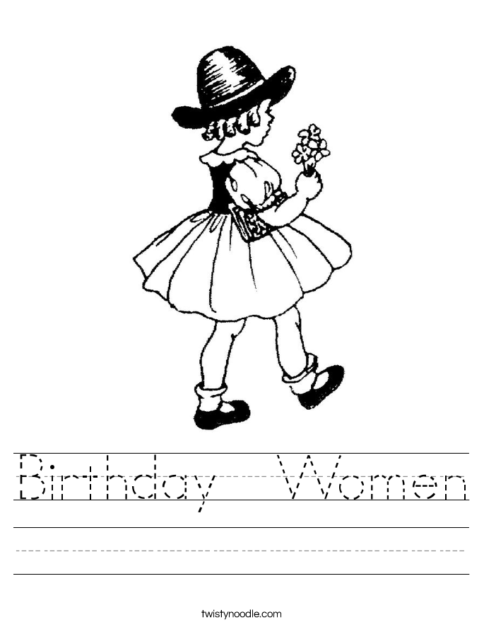 Birthday  Women Worksheet