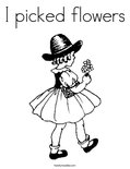 I picked flowers Coloring Page