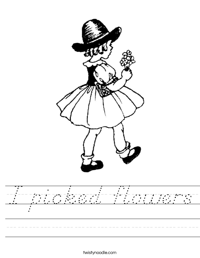 I picked flowers Worksheet