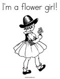 I'm a flower girl! Coloring Page