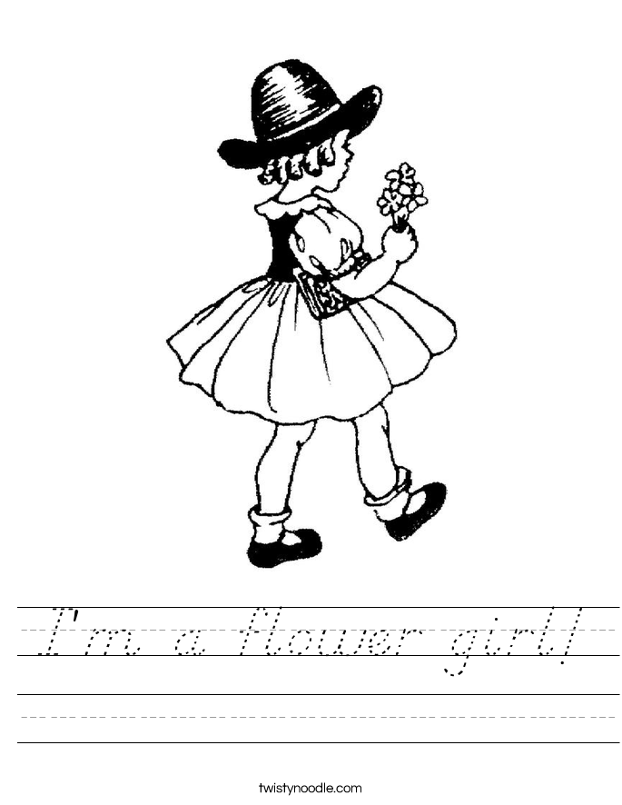 I'm a flower girl! Worksheet