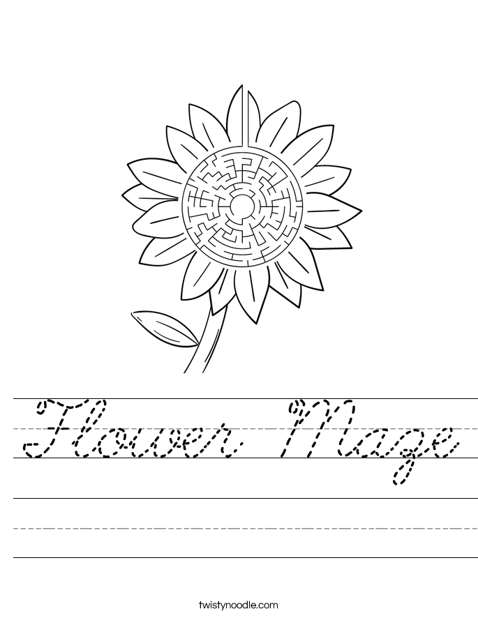 Flower Maze Worksheet