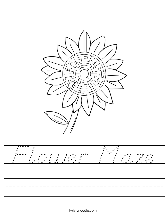 Flower Maze Worksheet