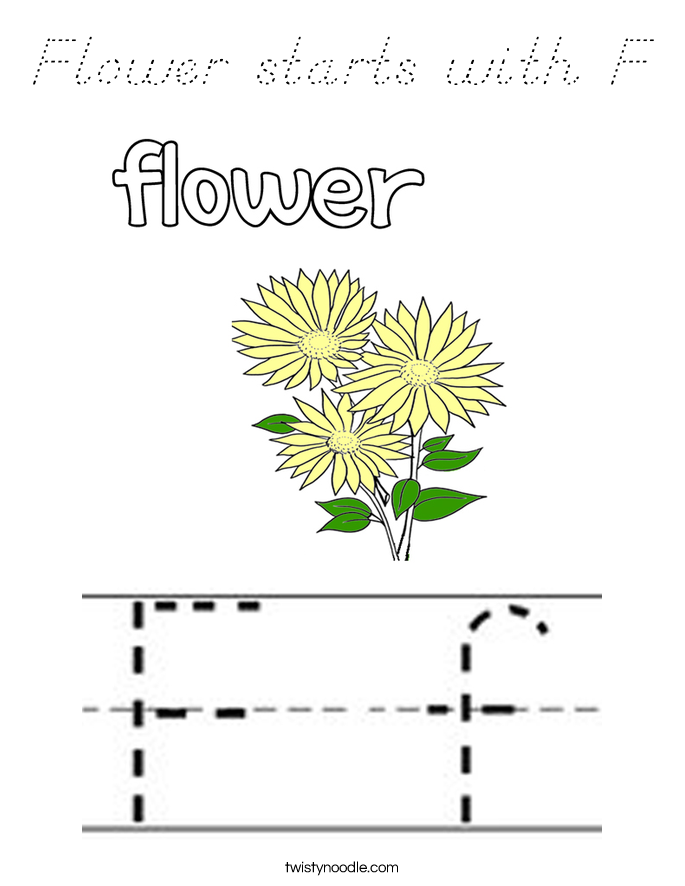 Flower starts with F Coloring Page