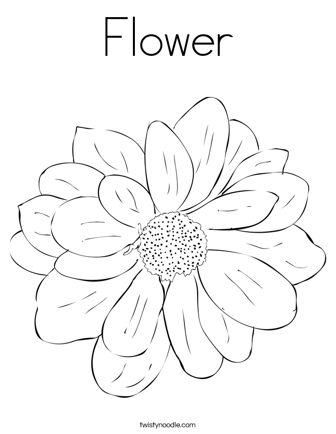 coloring pages flower petals - photo#23