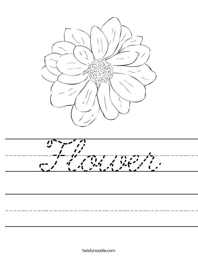 Flower Worksheet