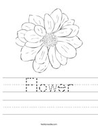 Flower Handwriting Sheet