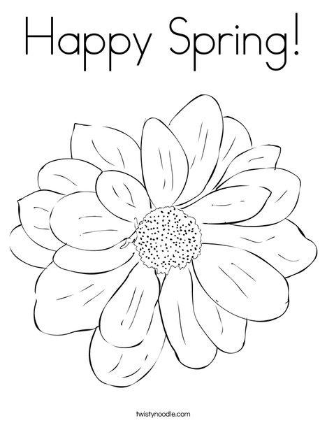 Happy Flower Coloring Pages
