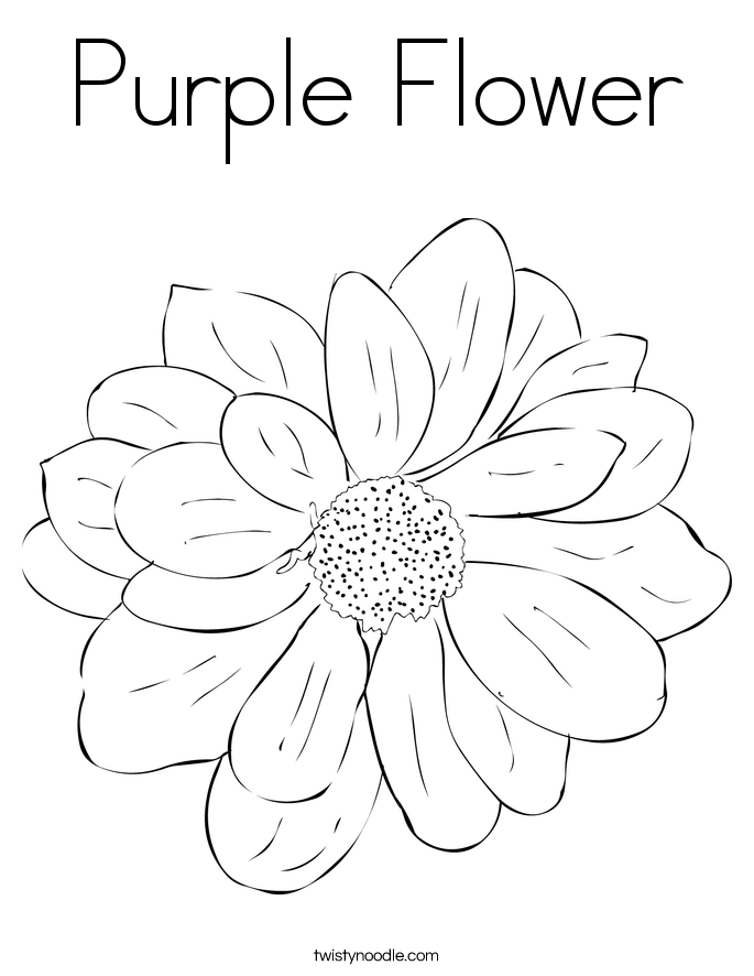 purple coloring pages - photo#8