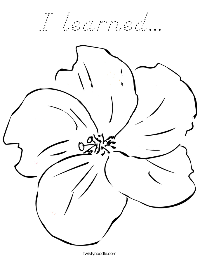 I learned... Coloring Page