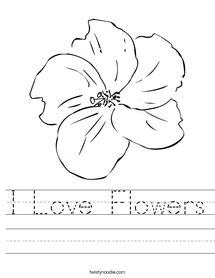 I am a flower Worksheet - Twisty Noodle