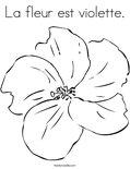 La fleur est violette. Coloring Page