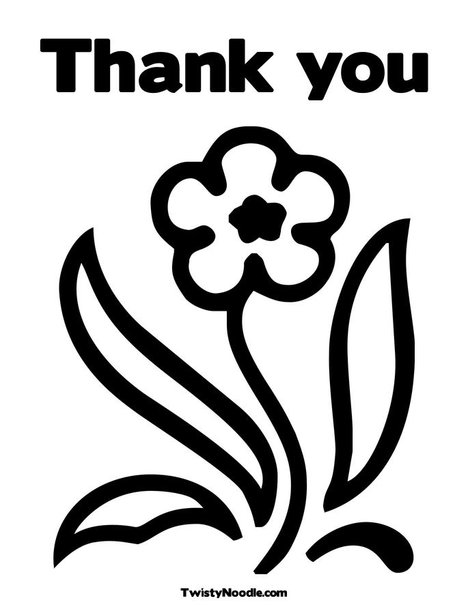 Free Coloring Pages Of Saying Thank You