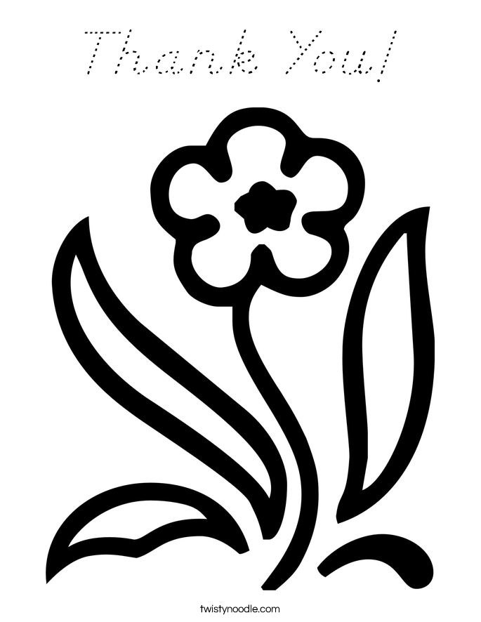 Thank You! Coloring Page